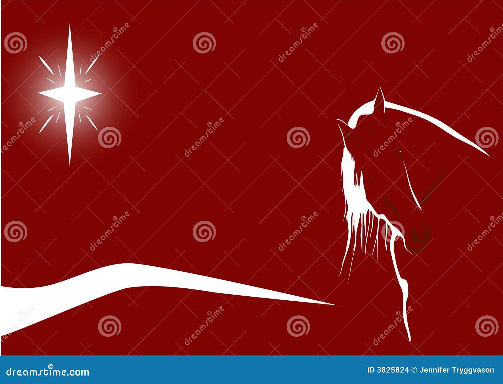 Starlit Pferd auf Rot