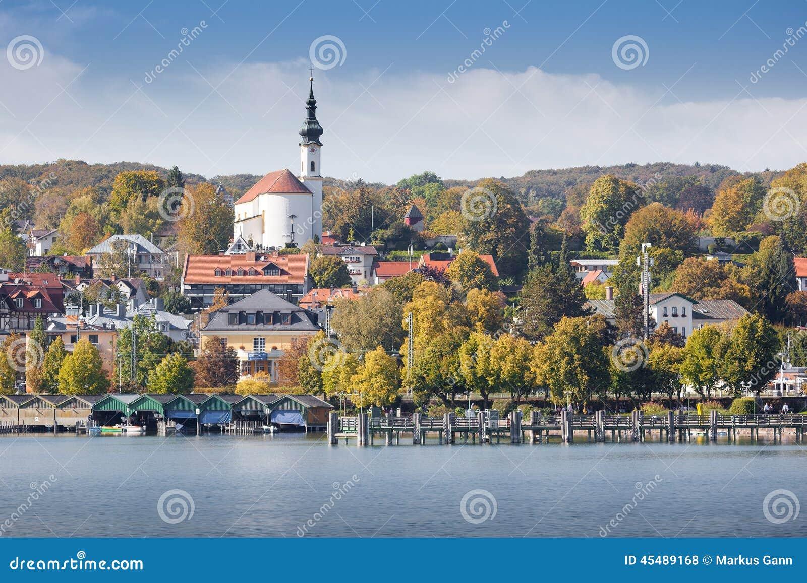 Starnberg bij de herfst
