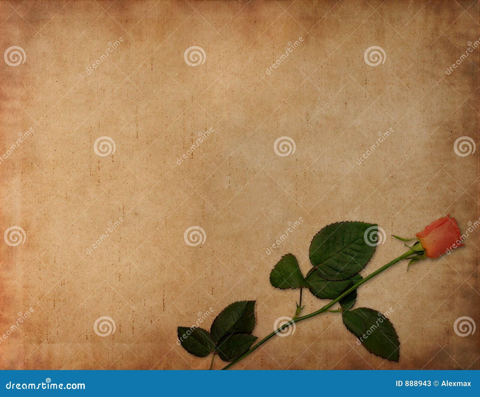 Starożytna tło listu miłości