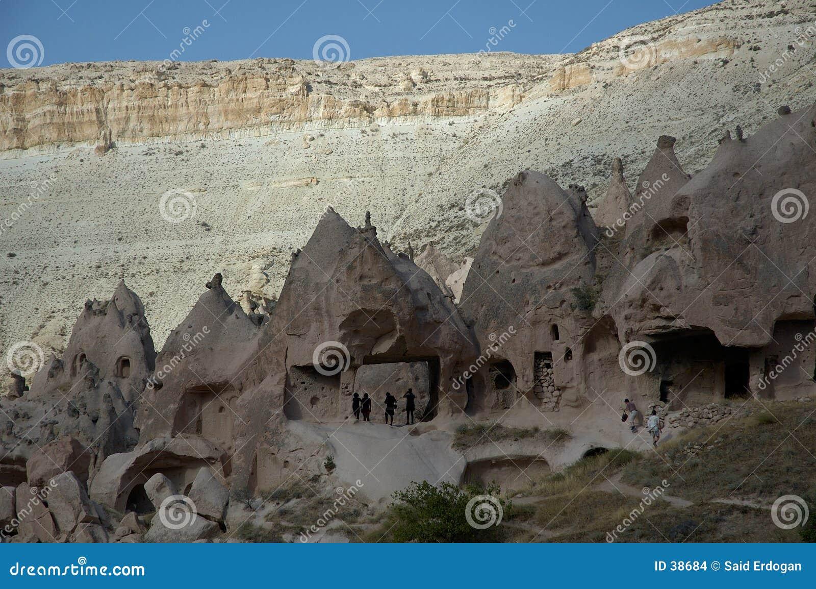 Starożytny cappadocia kwatery walley