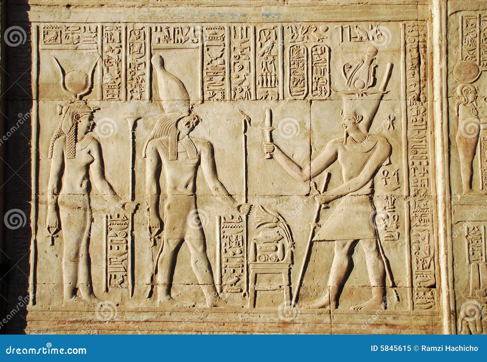 Starożytny egipski zdjęcia scenariusz