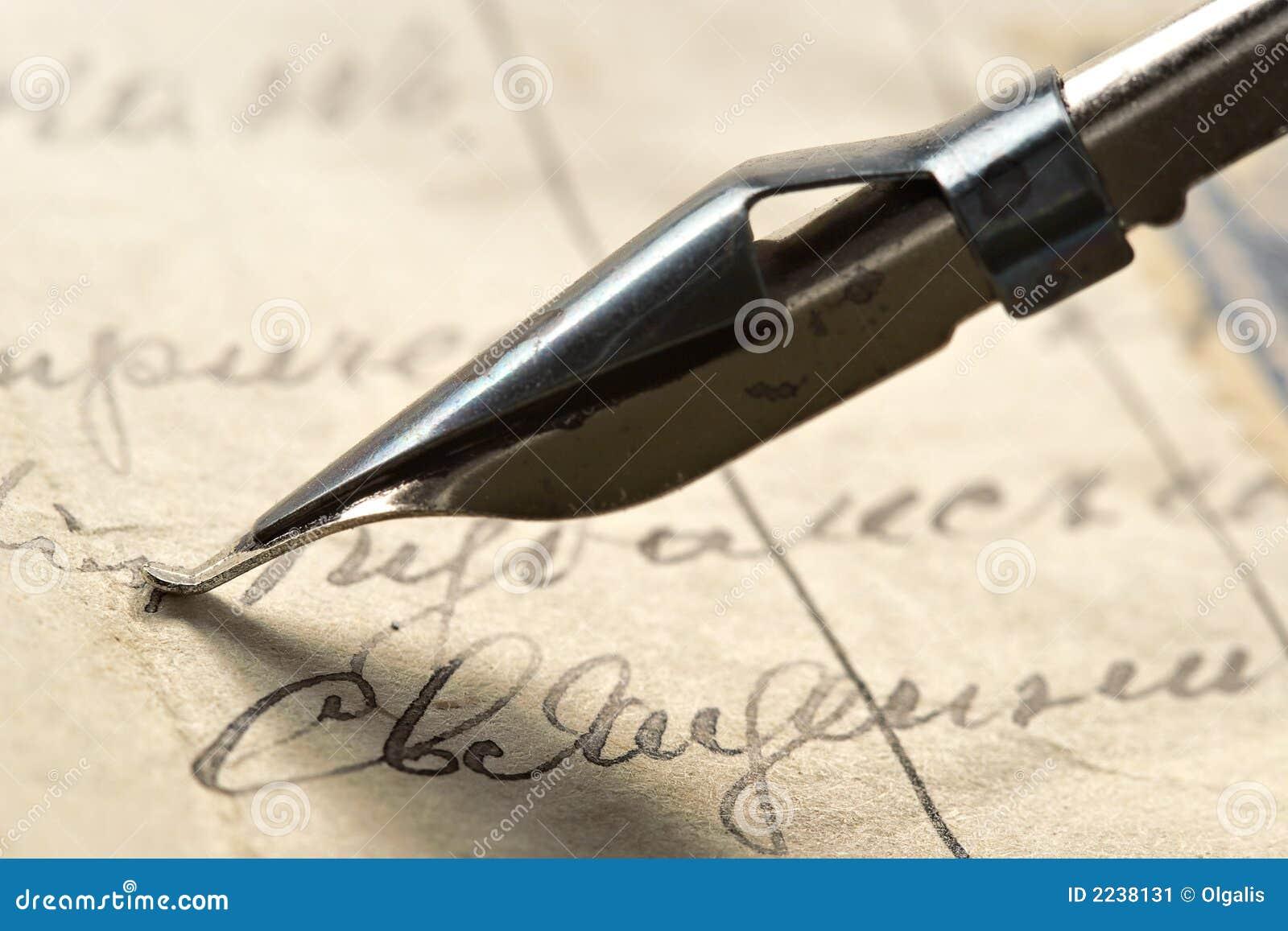 Starożytny list tuszu