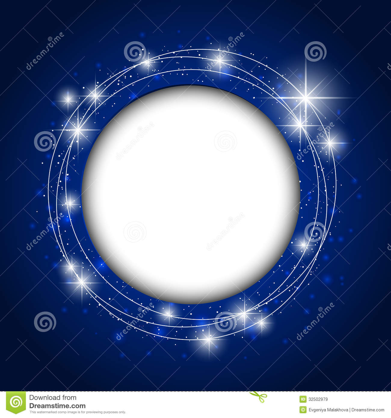 Starry Background With An Empty Space Royalty Free Stock