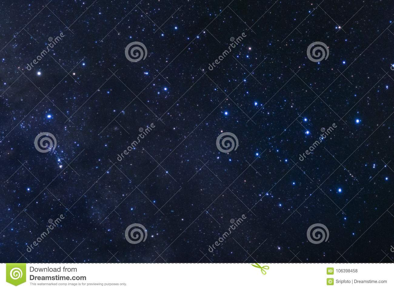 Starry night sky, Milky way galaxy with stars and space dust in