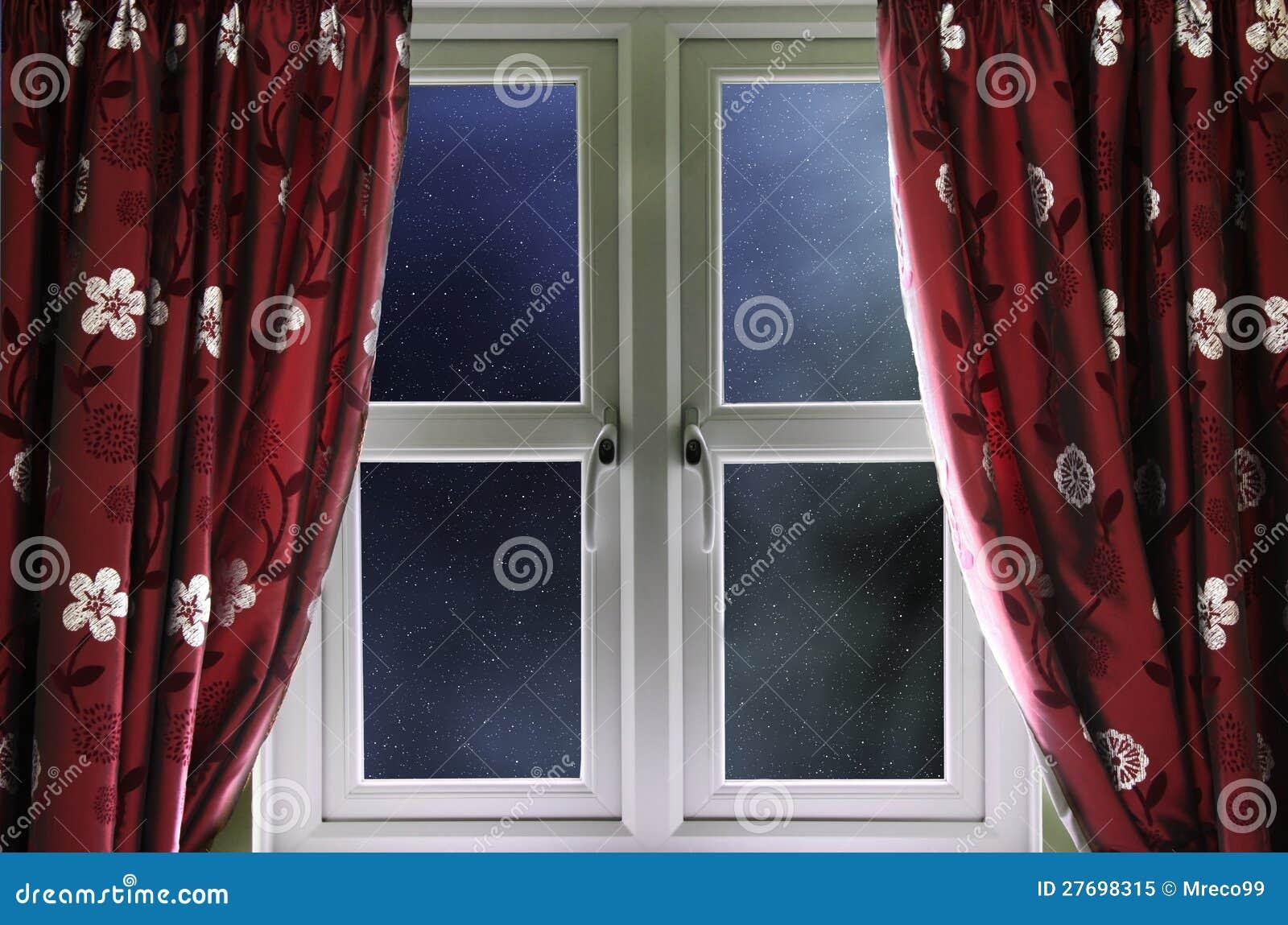 Starry Night Sky Through A Window Royalty Free Stock Photo Image 27698315
