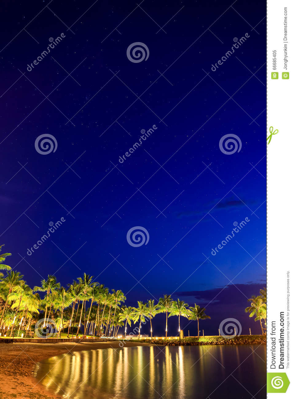 Starry Night. Stock Photo - Image: 66685405