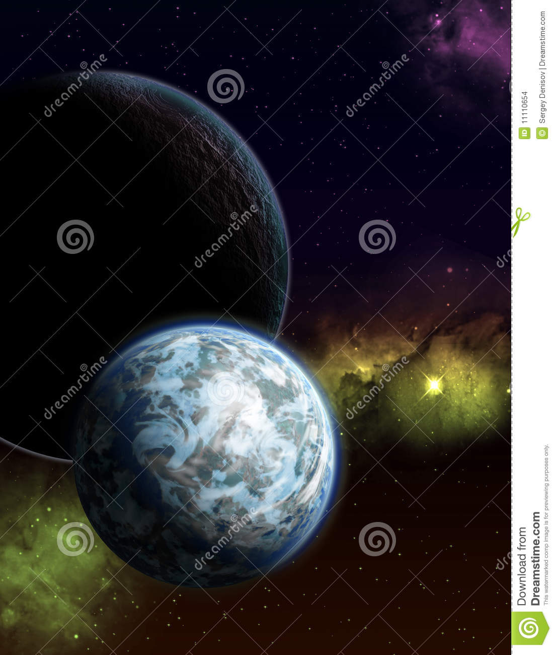 starry sky with planets - photo #23