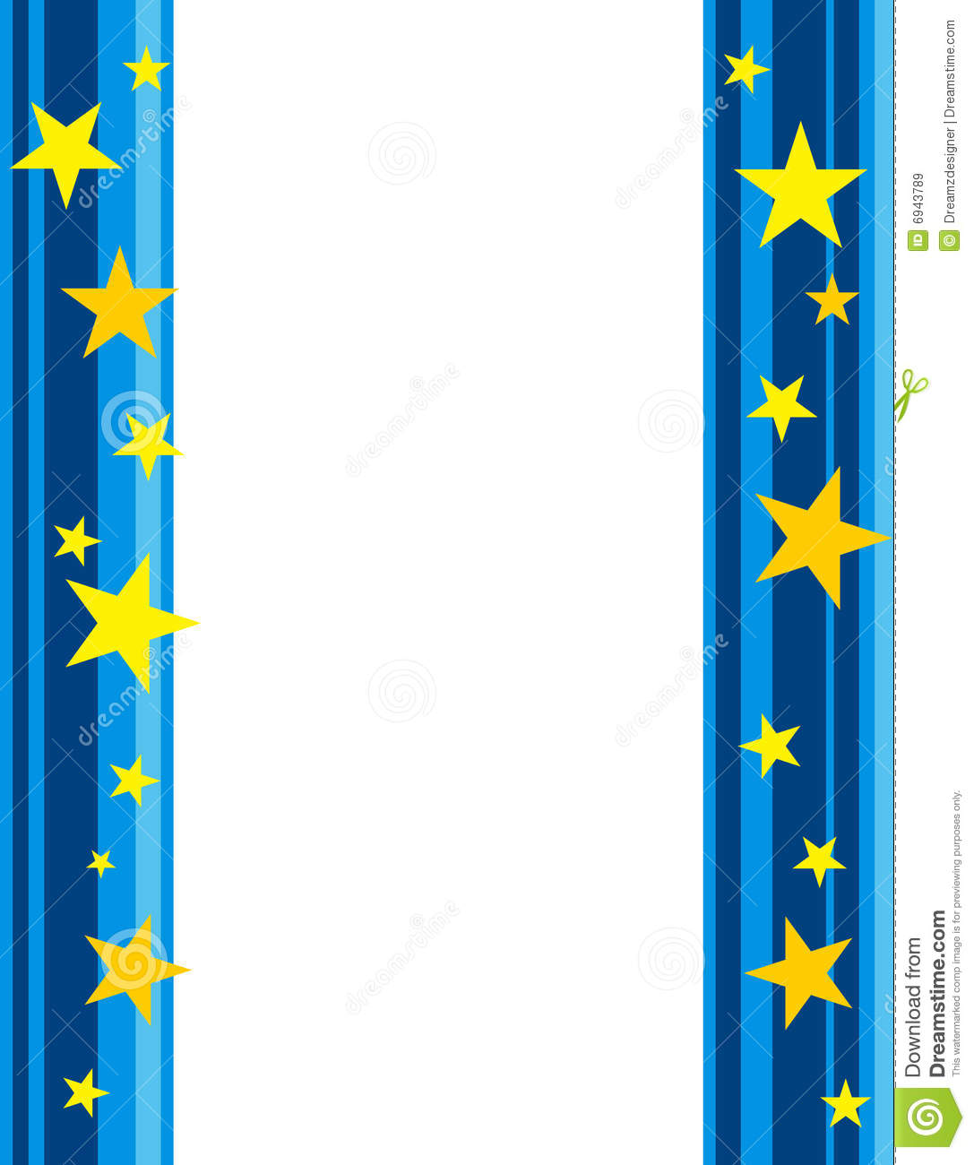 Stars border / frame stock illustration. Image of events ...