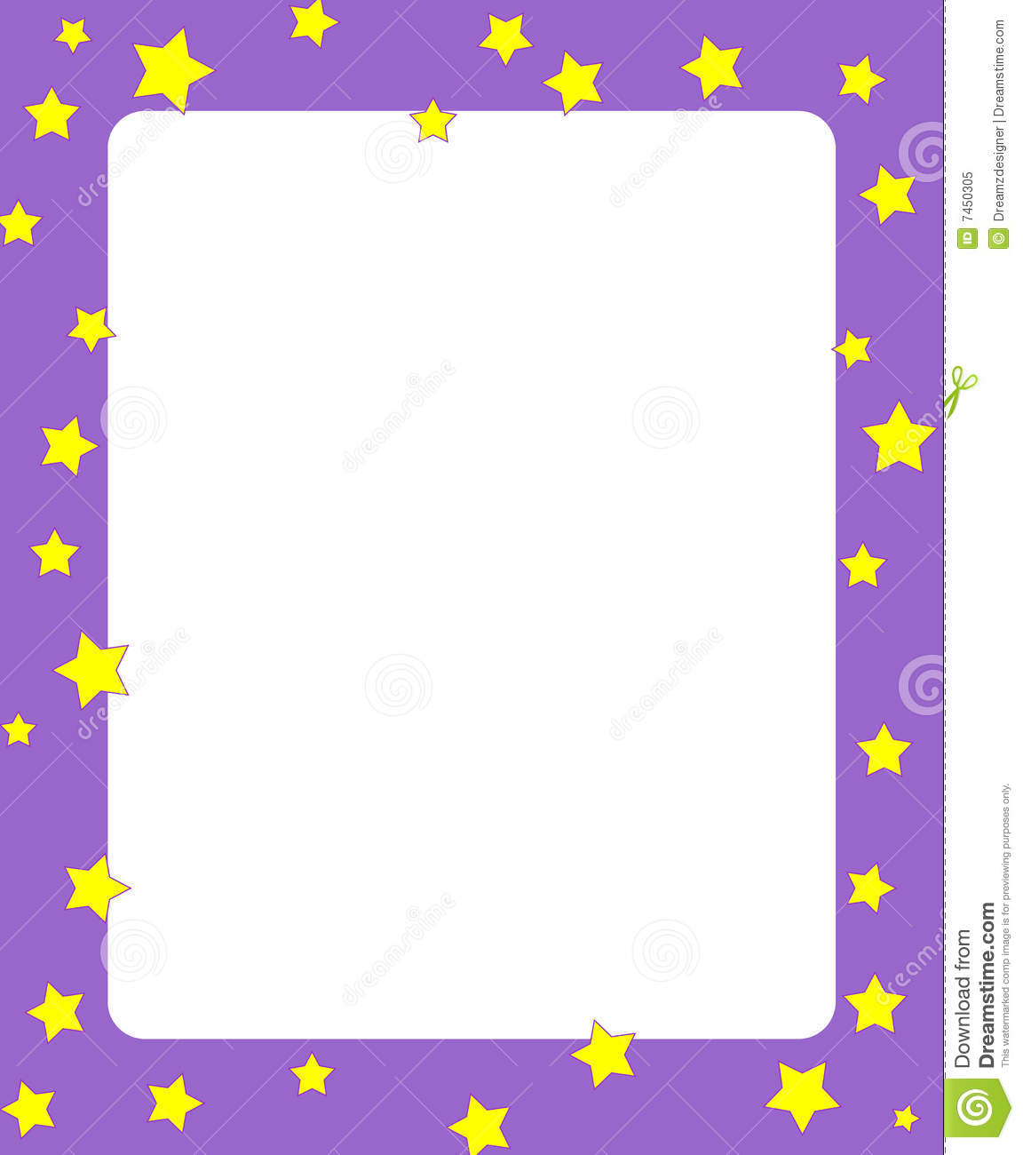 Stars border / frame stock vector. Image of christmas ...