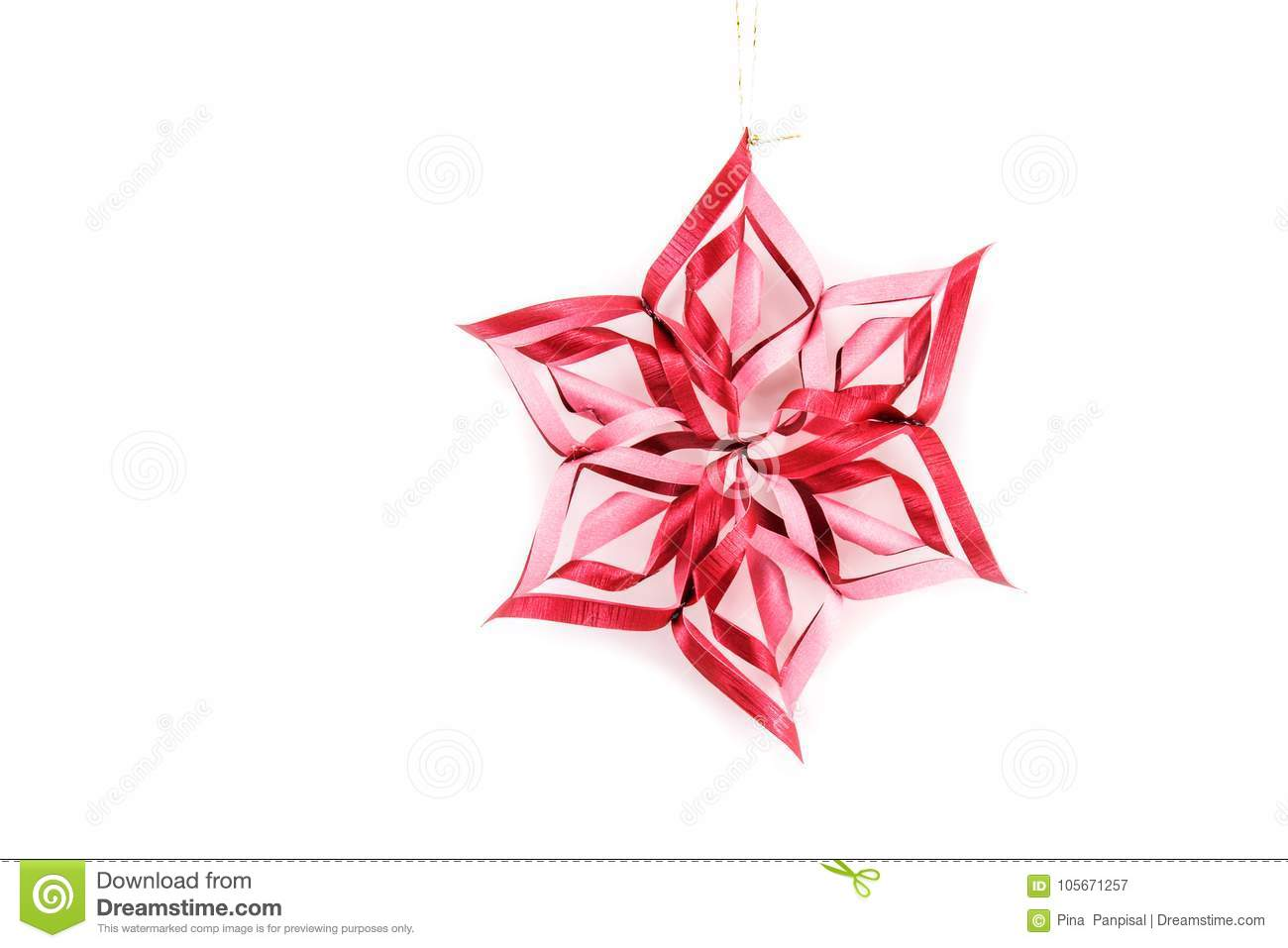 Stars and christmas decoration isolated on white background. Han