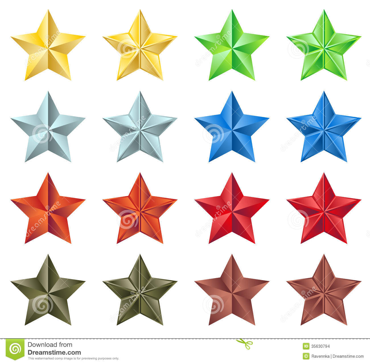 Stars collection stock images image 35630794