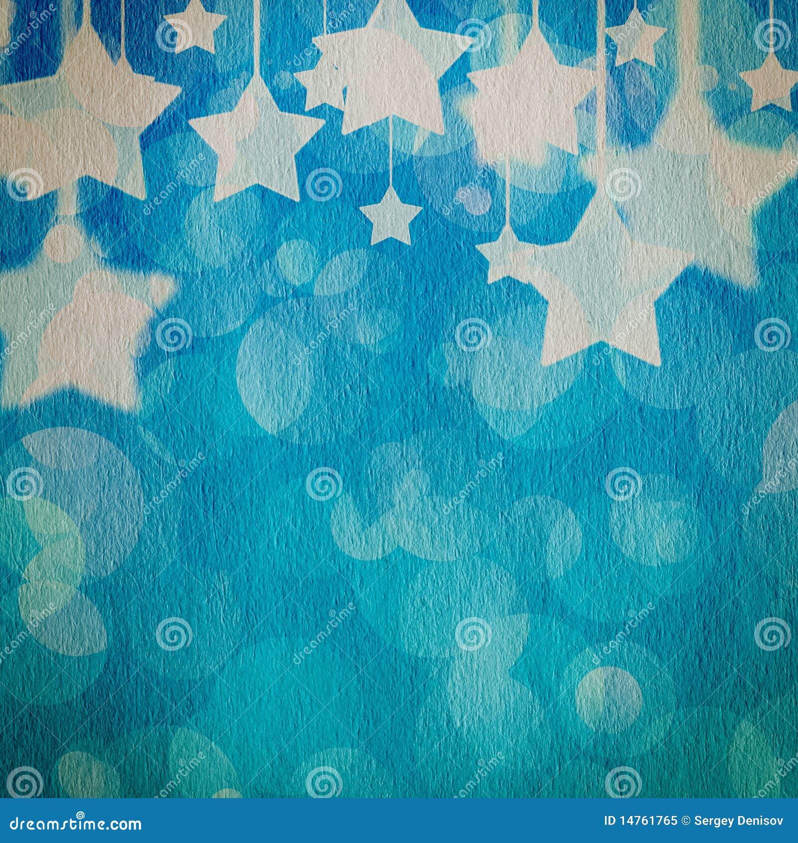 Stars on the grunge paper