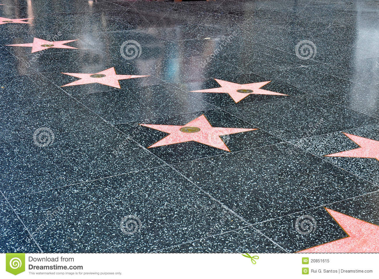 stars on the hollywood walk of fame stock image   image of