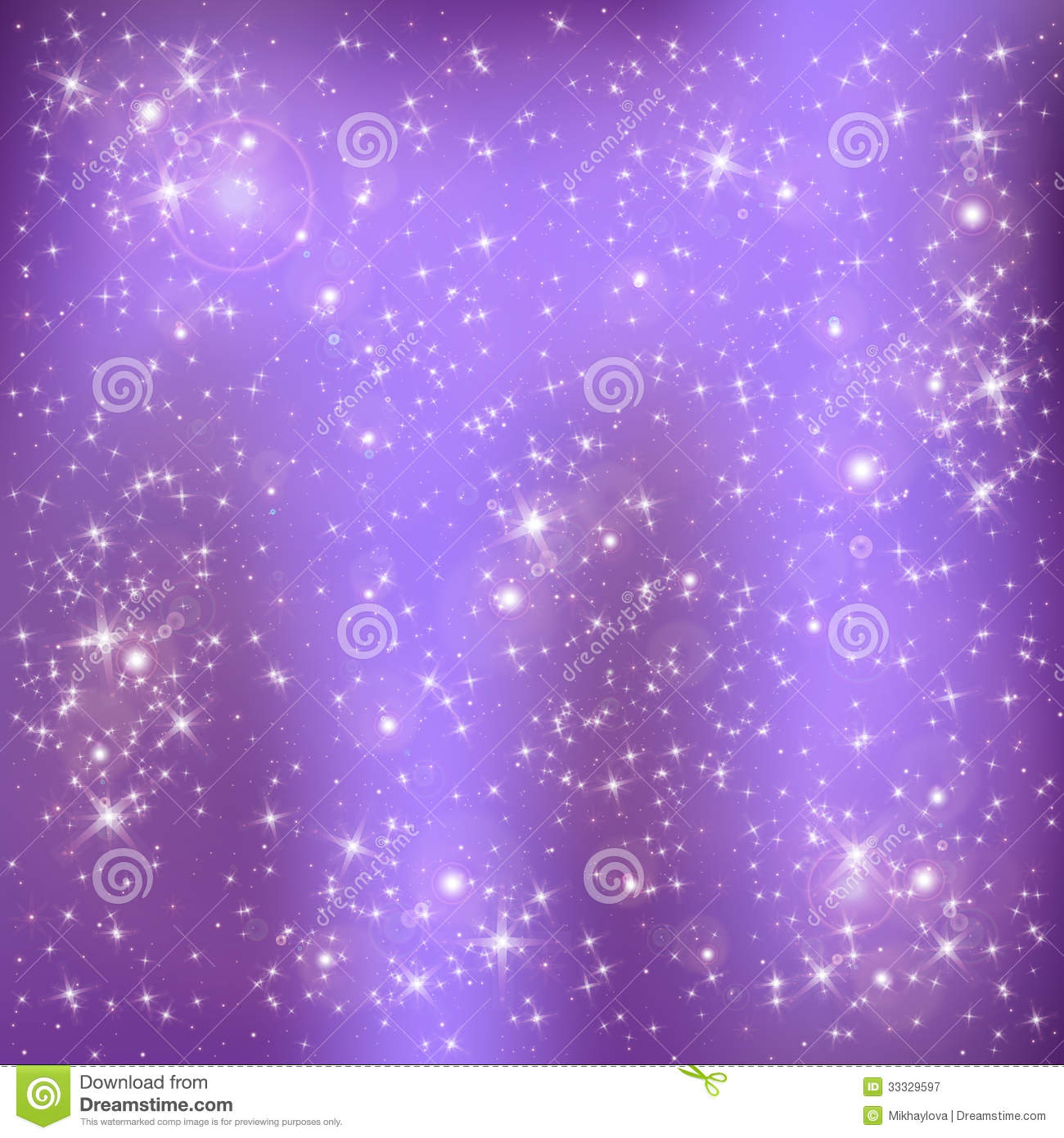 Lilac Tree Information Stars On A Lilac Background Stock Vector Illustration Of