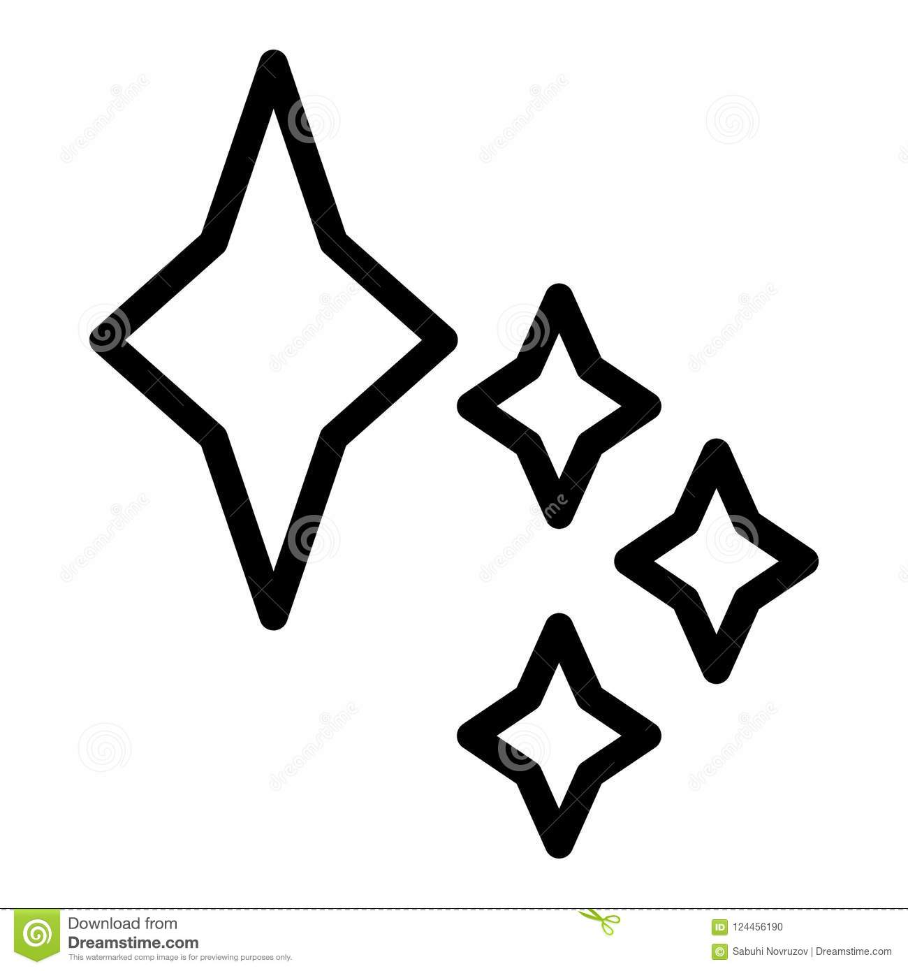 Stars Line Icon. Space Star Vector Illustration Isolated ...