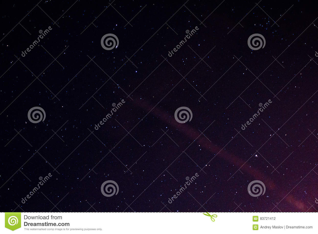 Stars In The Night Sky Stock Photo
