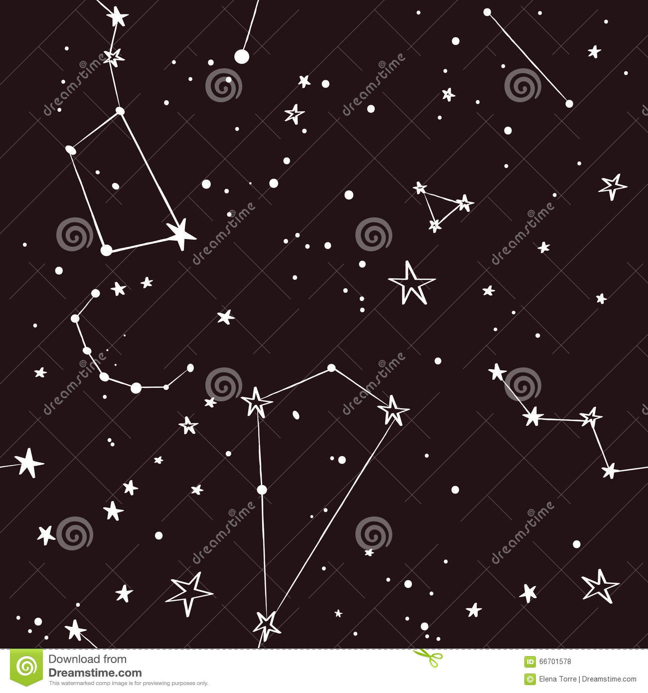 Stars In The Night Sky Pattern Stock Vector