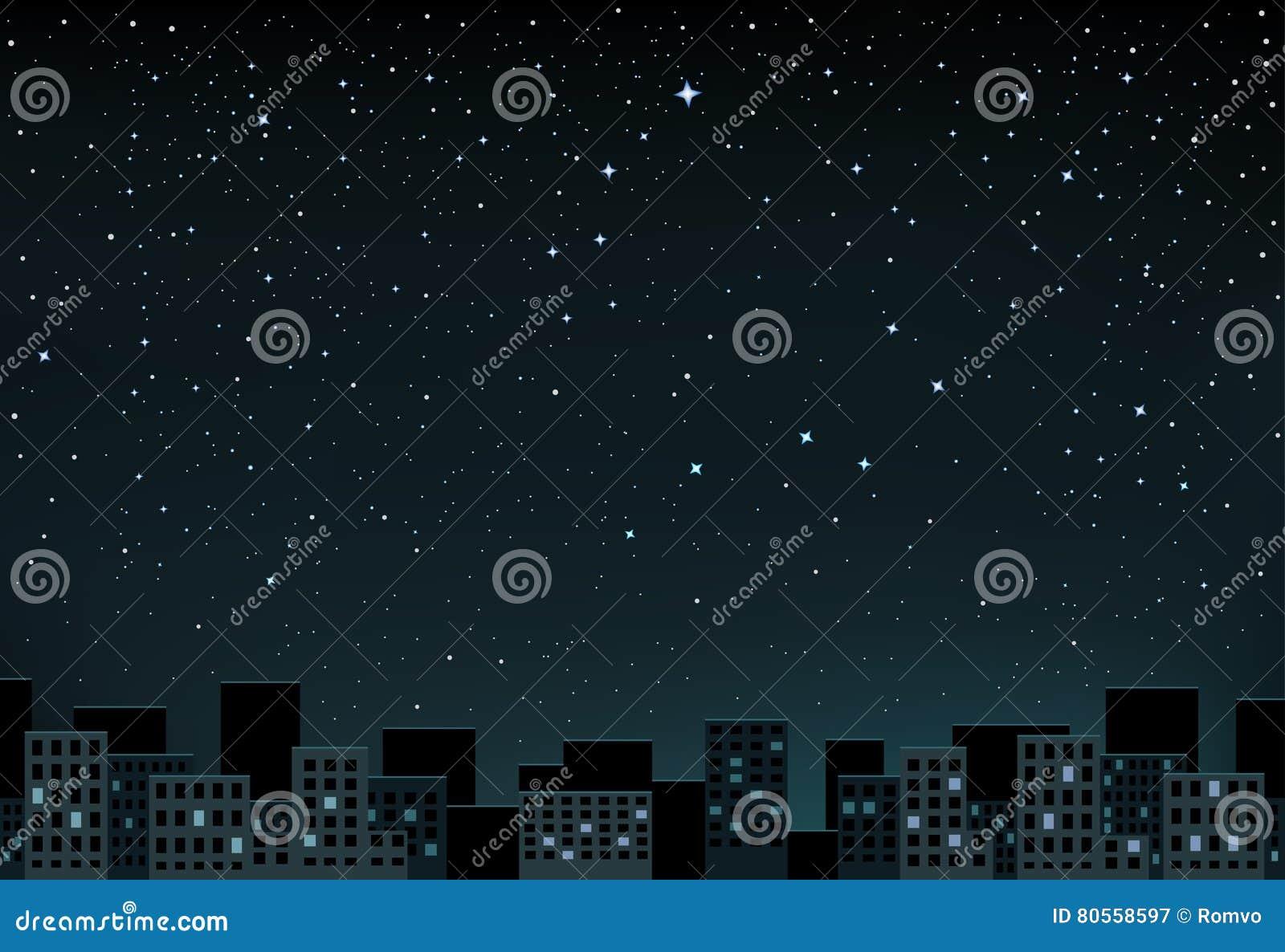 Stars a noite sobre a cidade