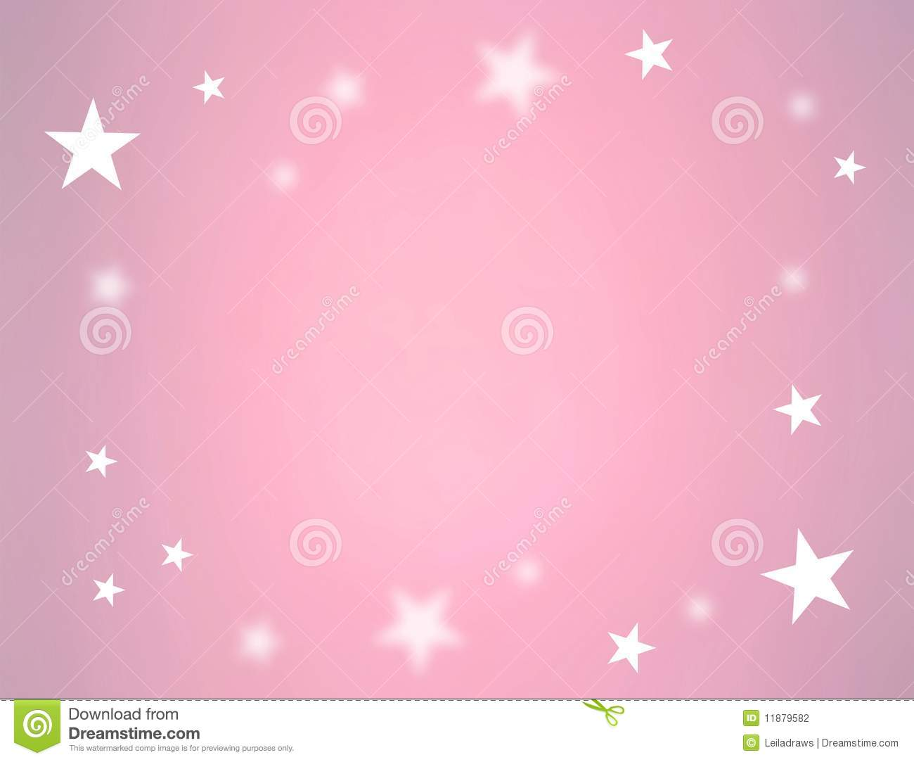 pink background with some stars as border. There is a blue version ...