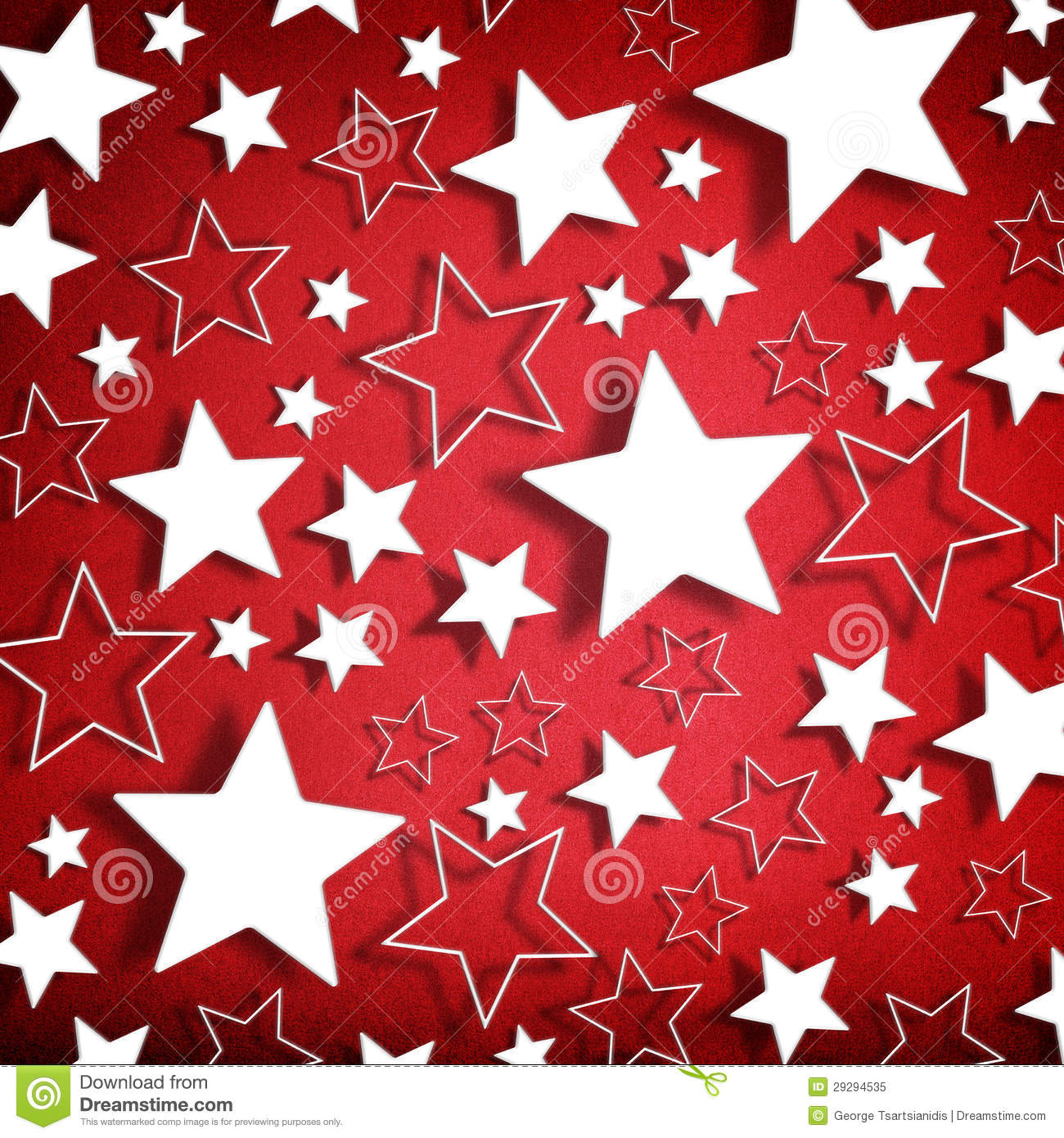 Red Stars Background Stars On Red Ba...