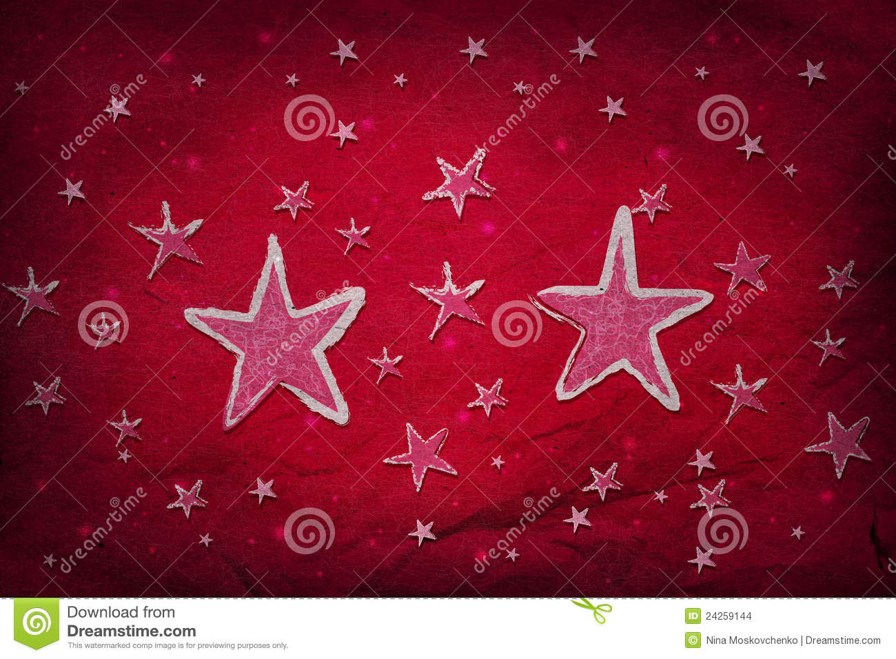 Stars on red paper
