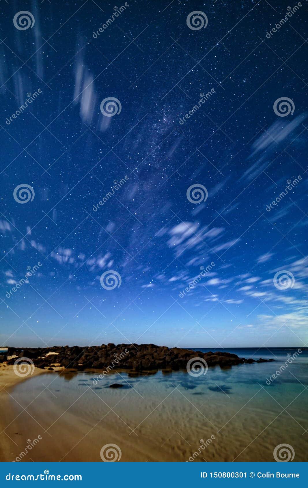 Night sky at Port Fairy, Great Ocean Road, Victoria, Australia