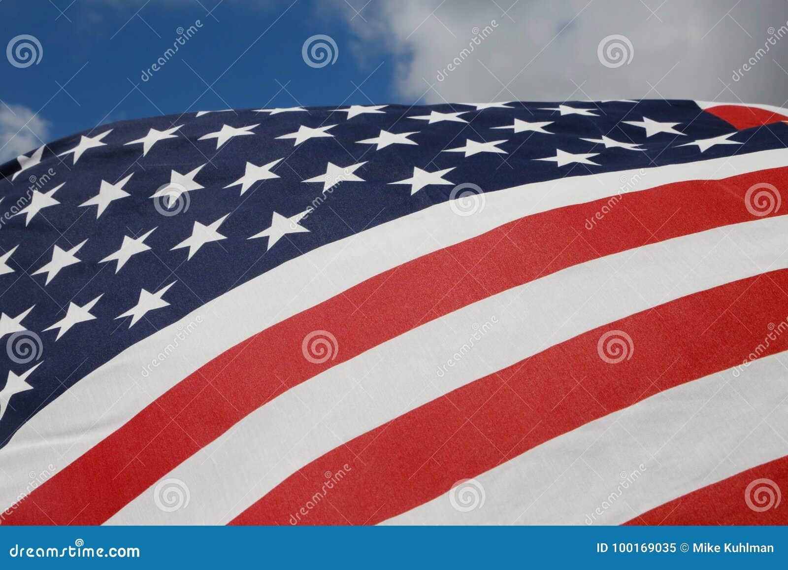 19ec01d4081 American Flag stock image. Image of horizontal