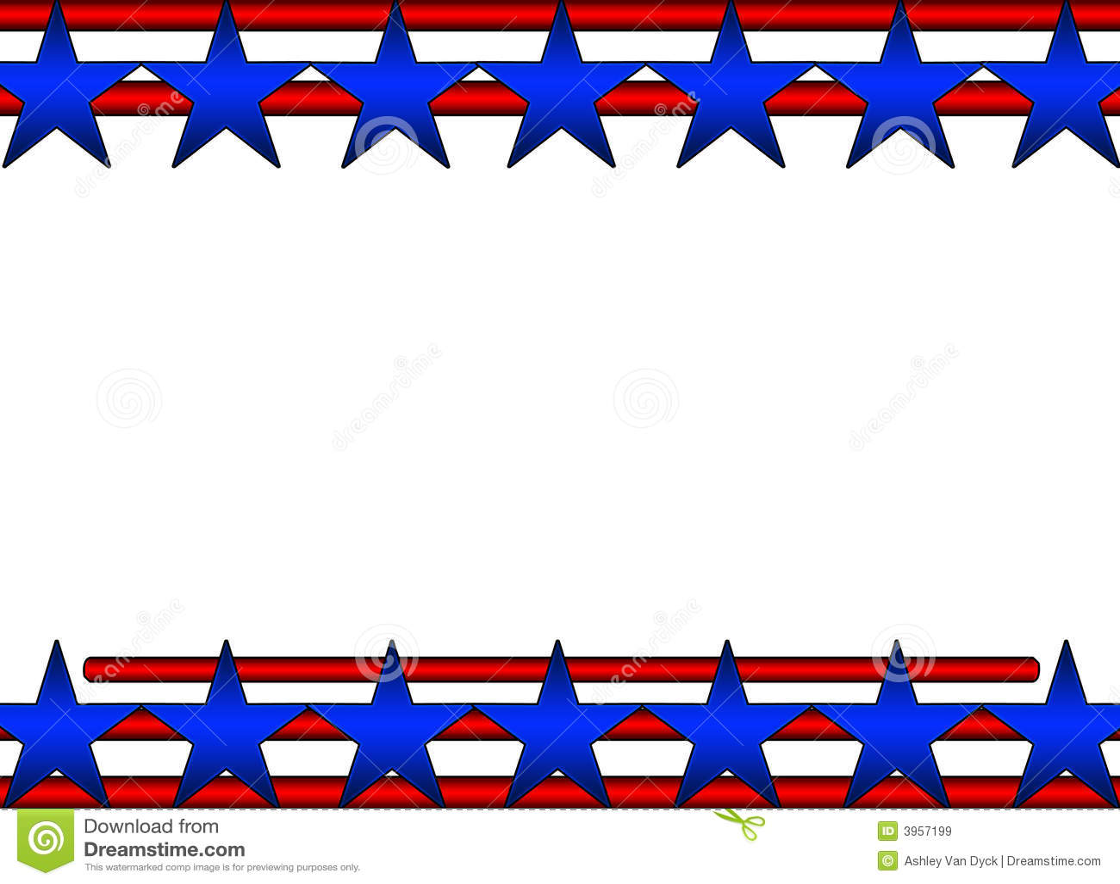 Clipart American Flag Border
