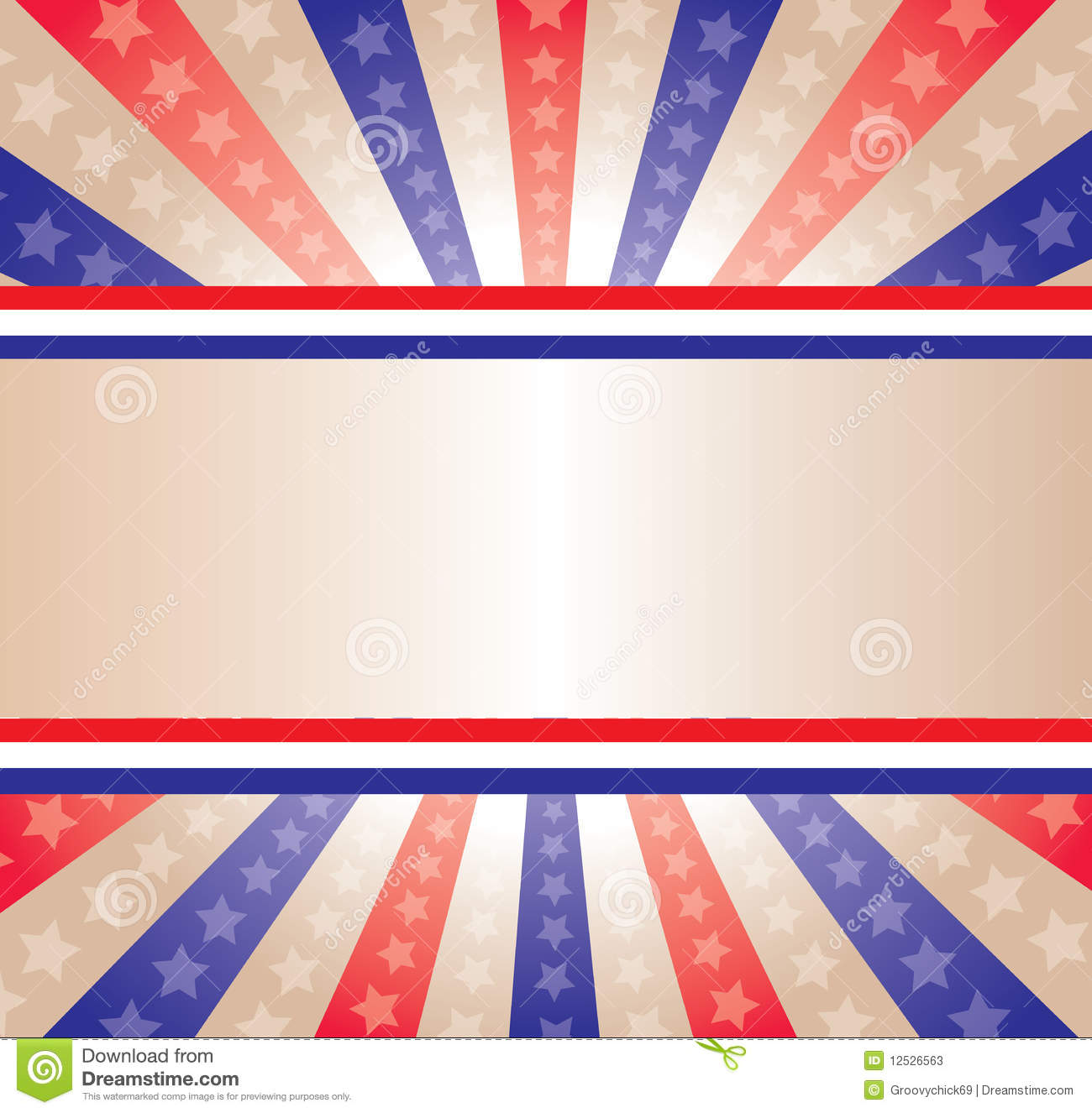 Stars And Stripes Banner Stock Photos