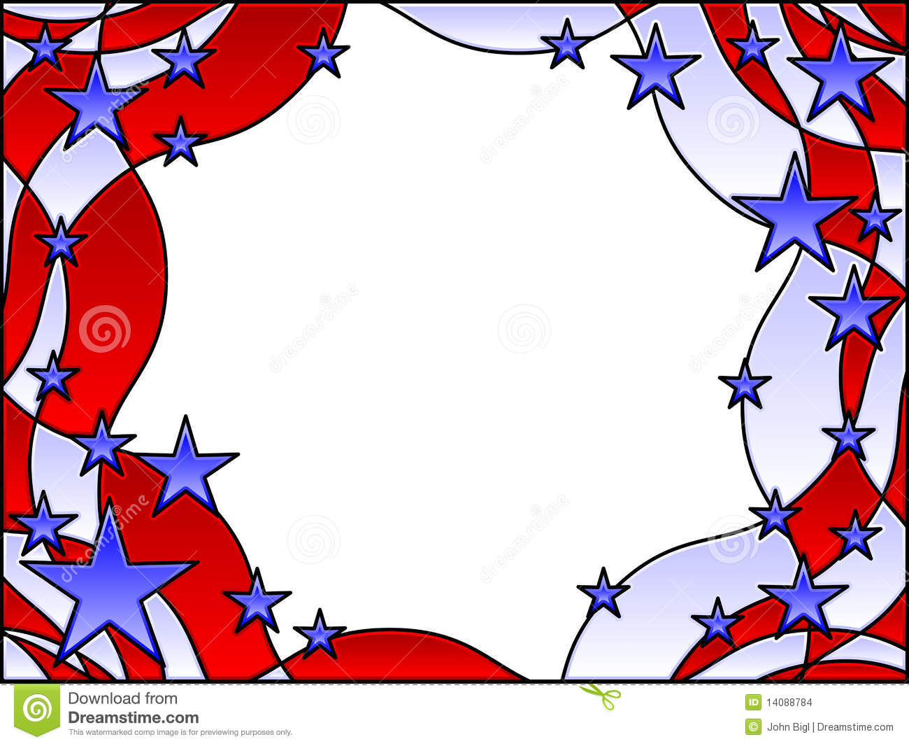 Stars and stripes frame stock vector. Image of united ...