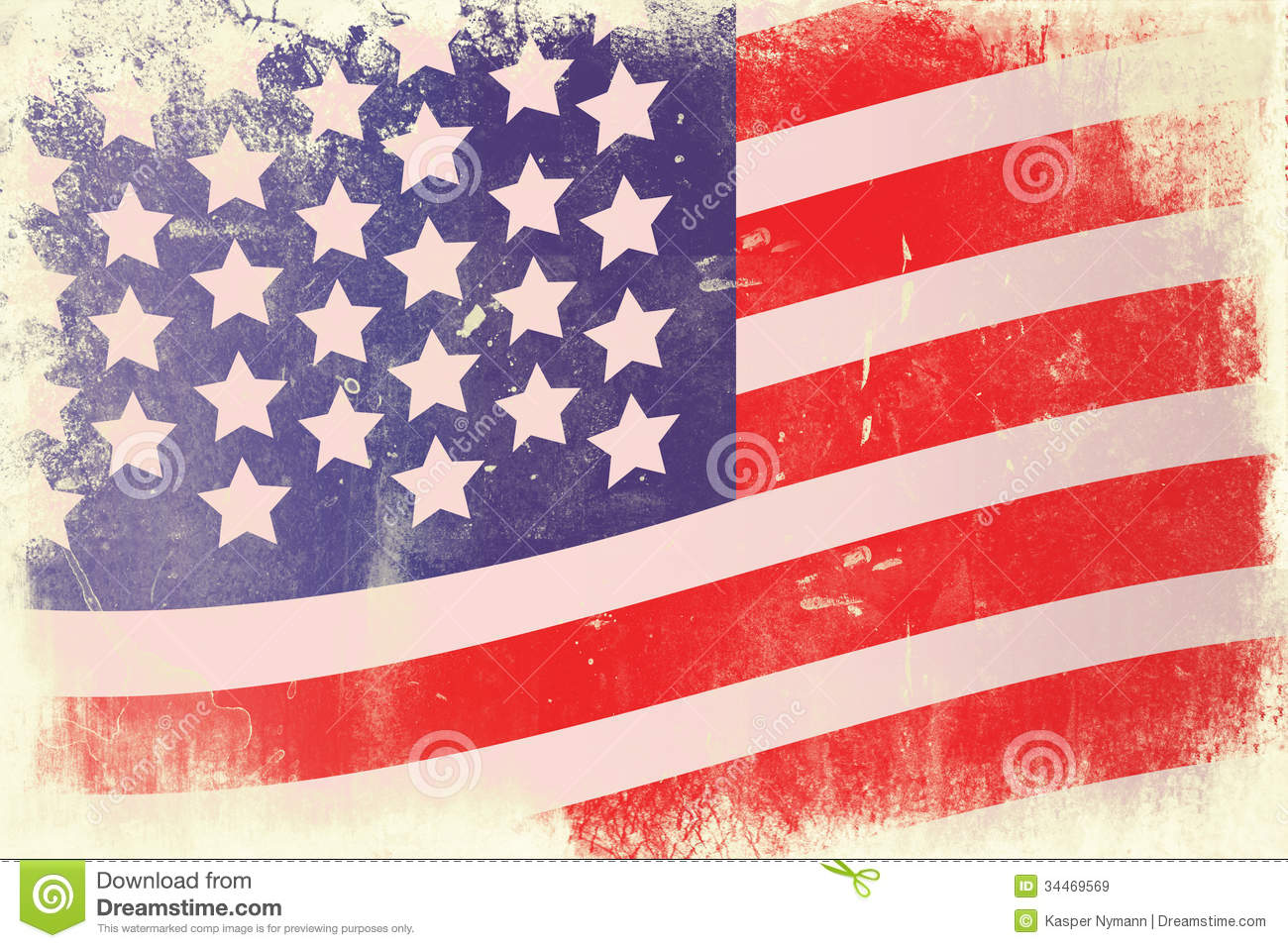 Stars And Stripes Royalty Free Stock Images - Image: 34469569
