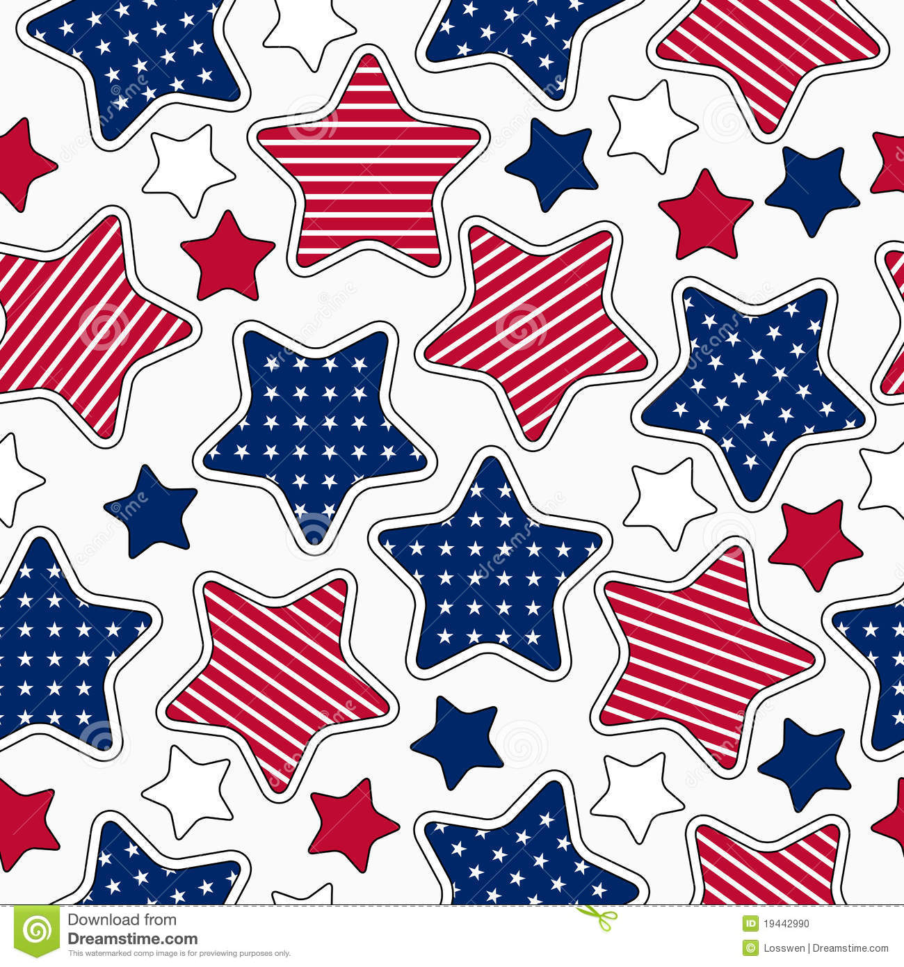 Stars And Stripes Pattern Stock Photo - Image: 19442990