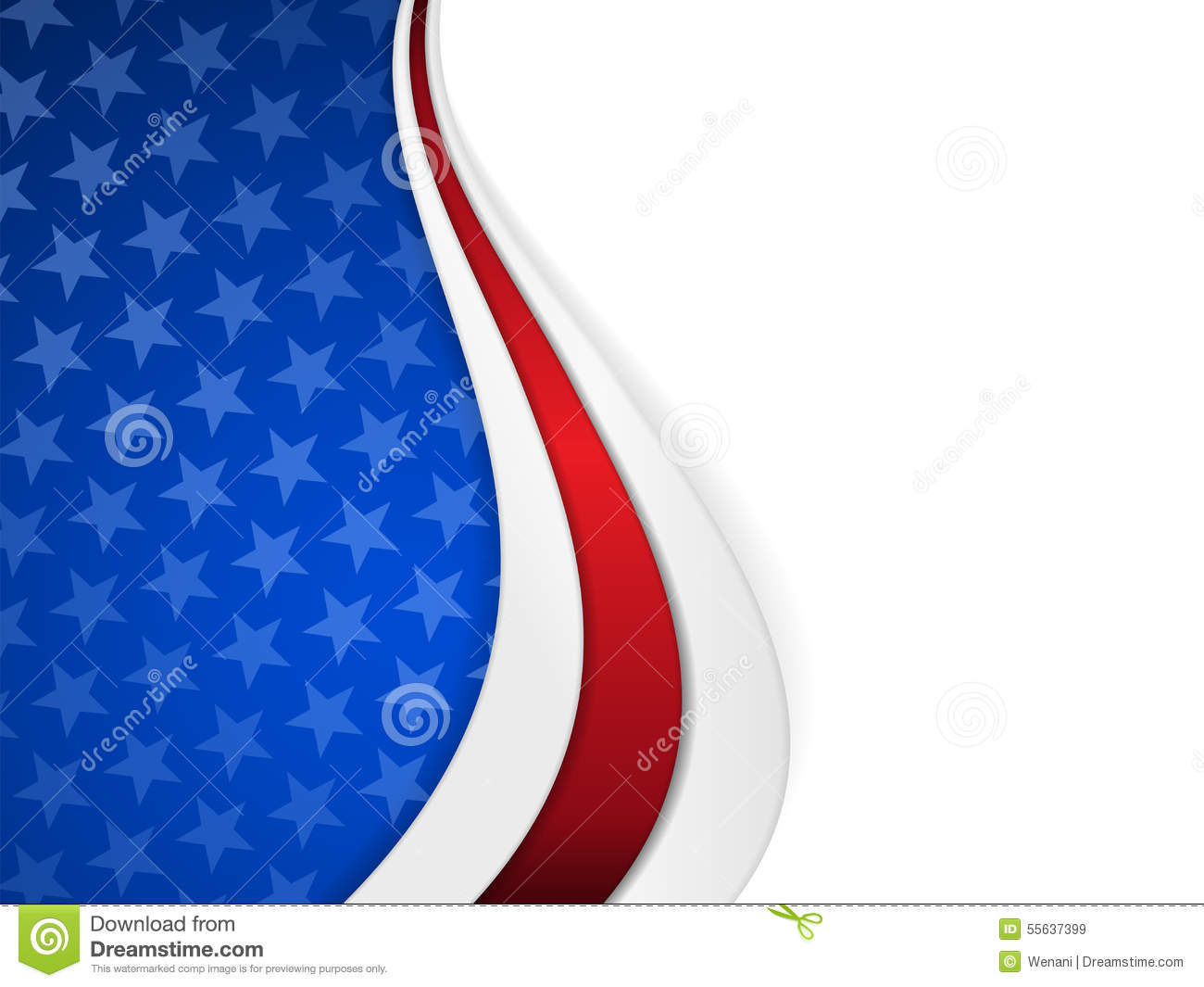 Stars And Stripes Themed Background Stock Vector - Image ... - photo#30