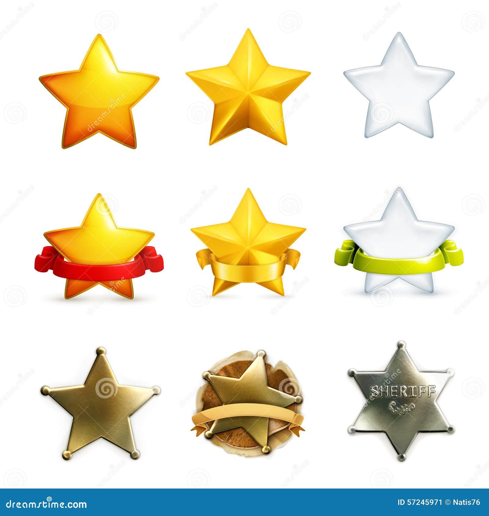 Stars vector icons