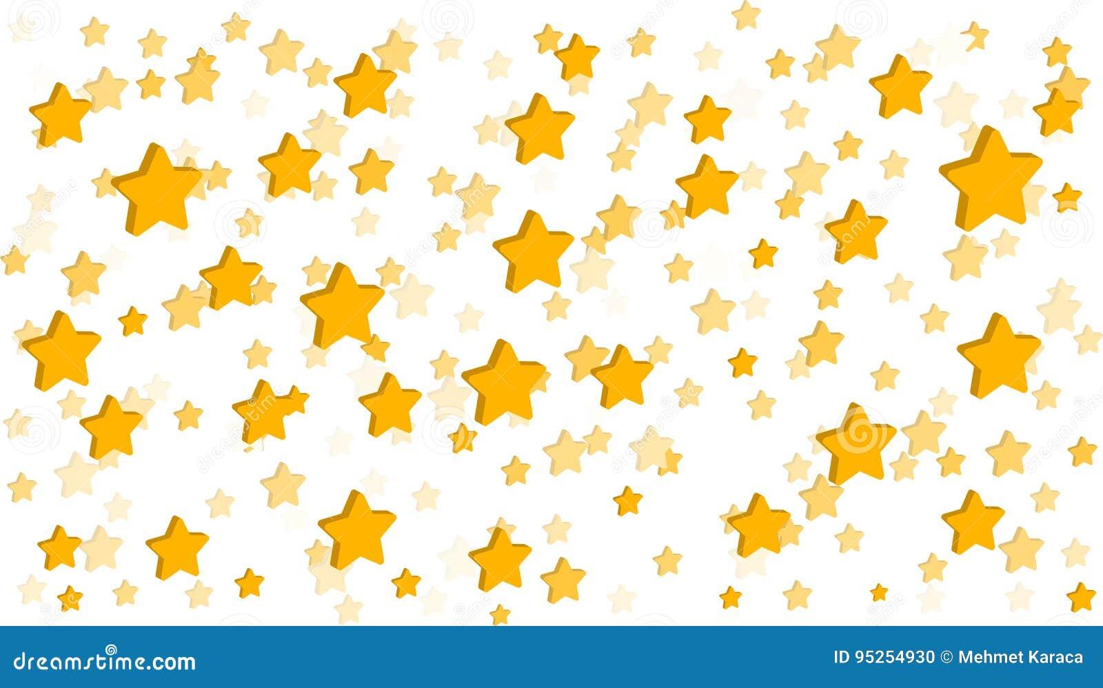 Stars White Background