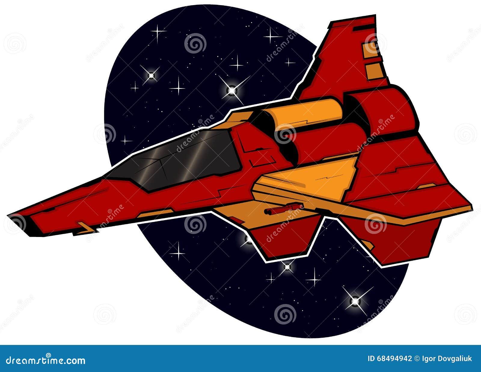 Starship futuriste de combat