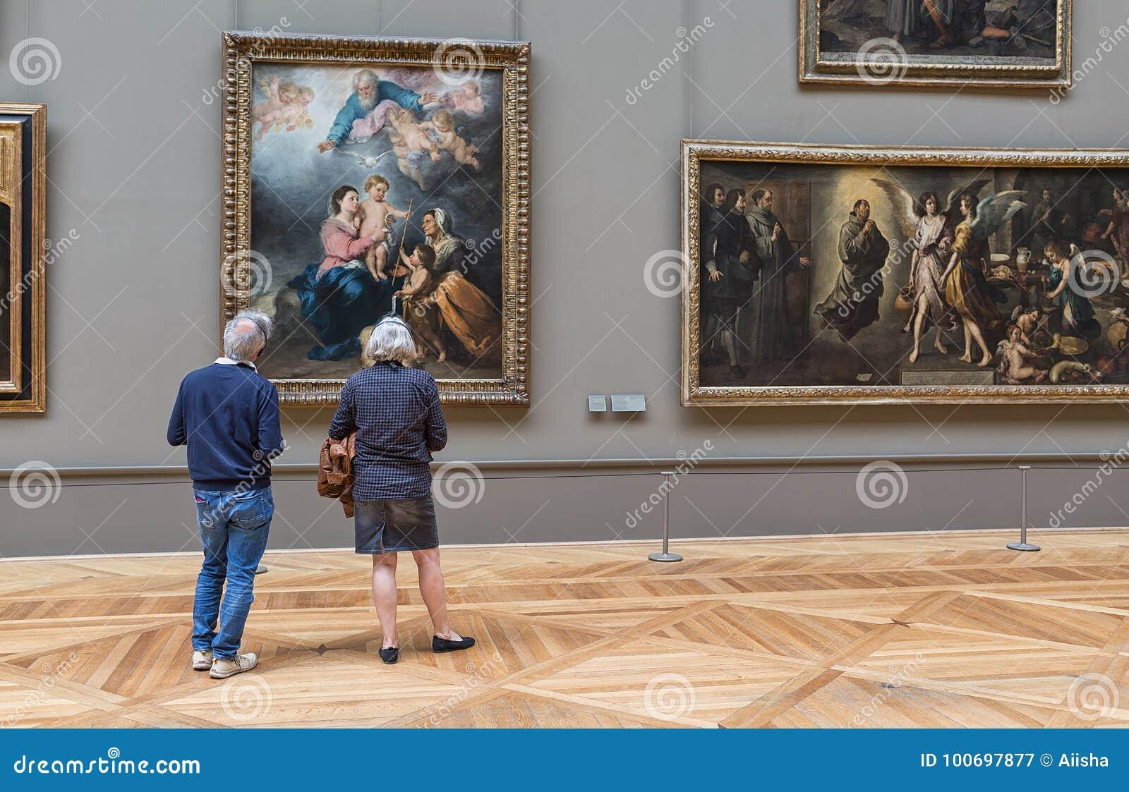 Starsza para patrzeje obraz w louvre muzeum