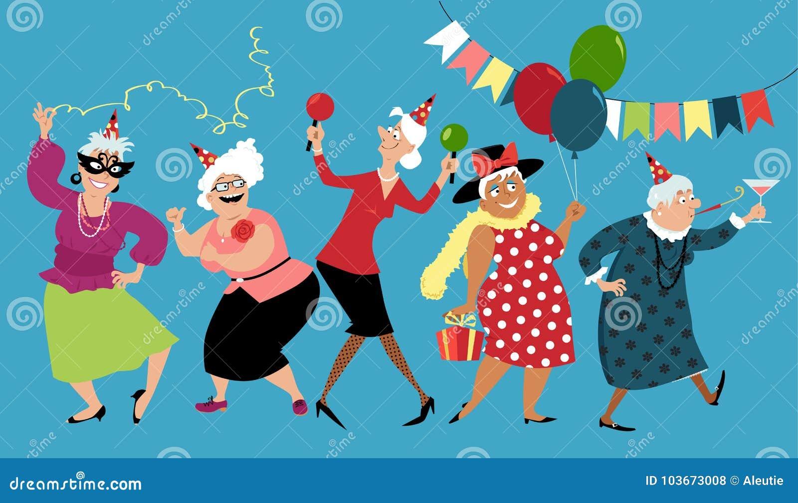 Starsze damy świętują