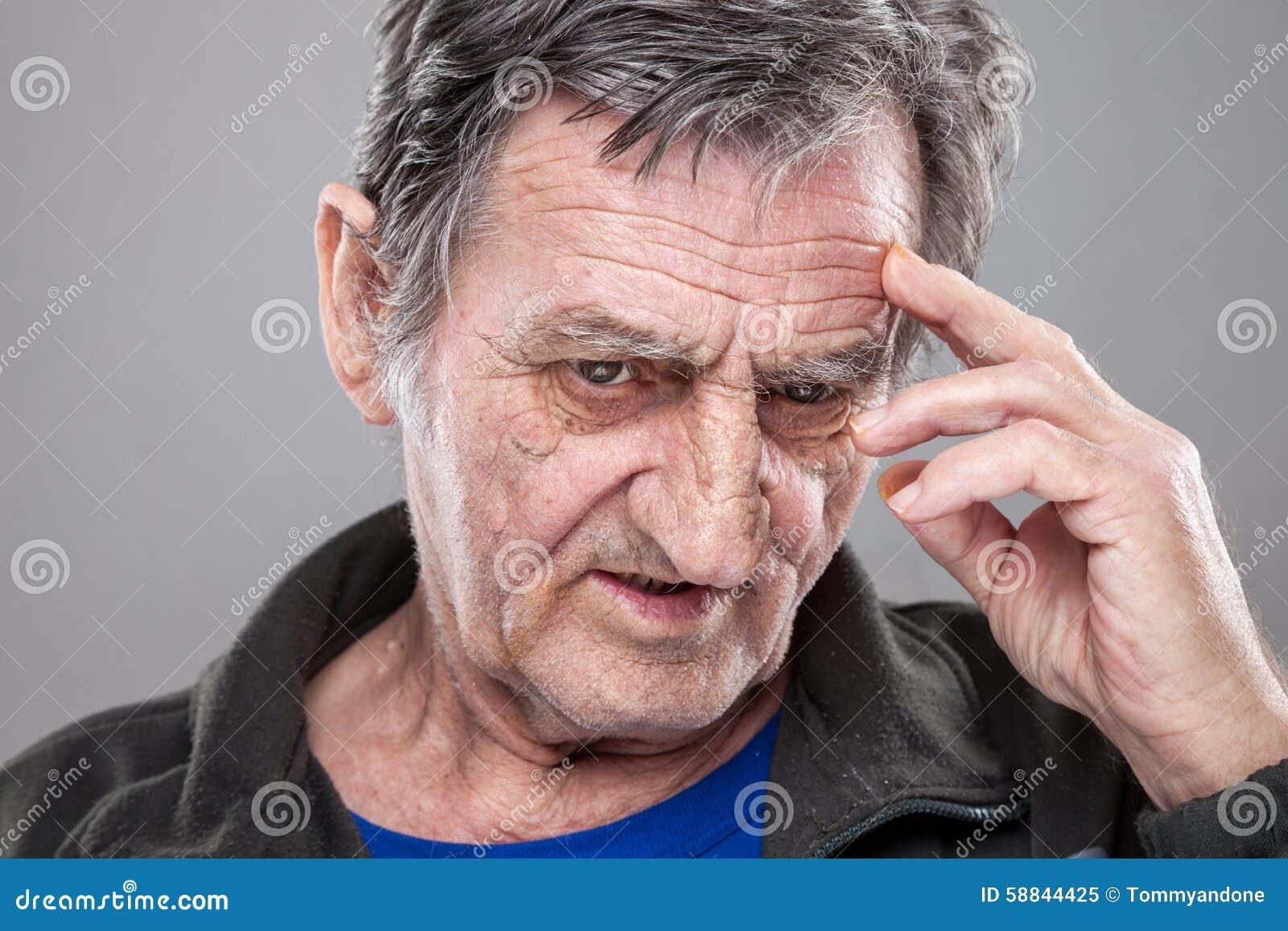 Starszy człowiek portret