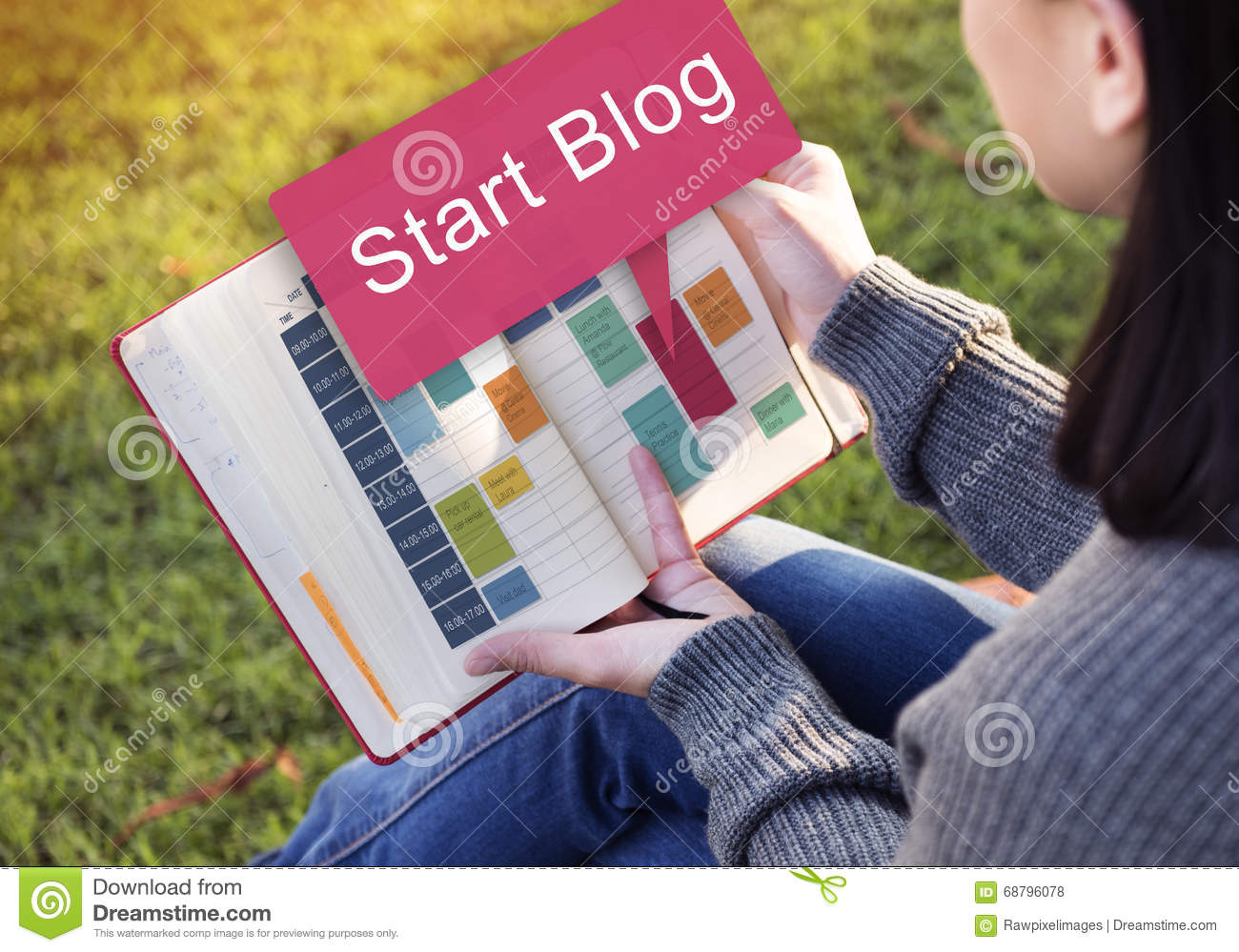 Download Start Blog Blogging Social Media Online Concept Stock Photo - Image of review, notes: 68796078