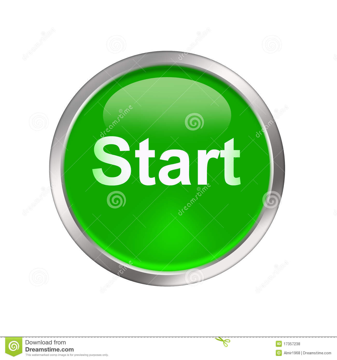 Green Start Web Page Site Map: Start Button Royalty Free Stock Photos