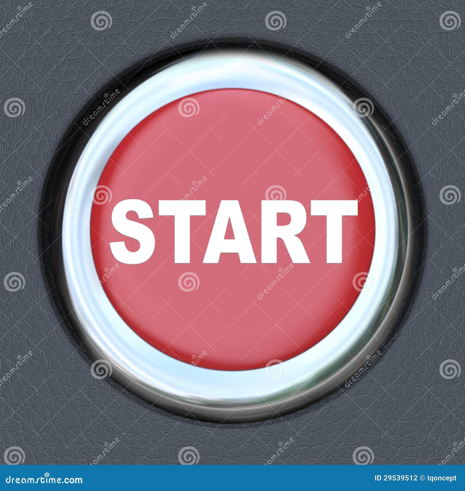 Car Push Button Starter Stock Photography