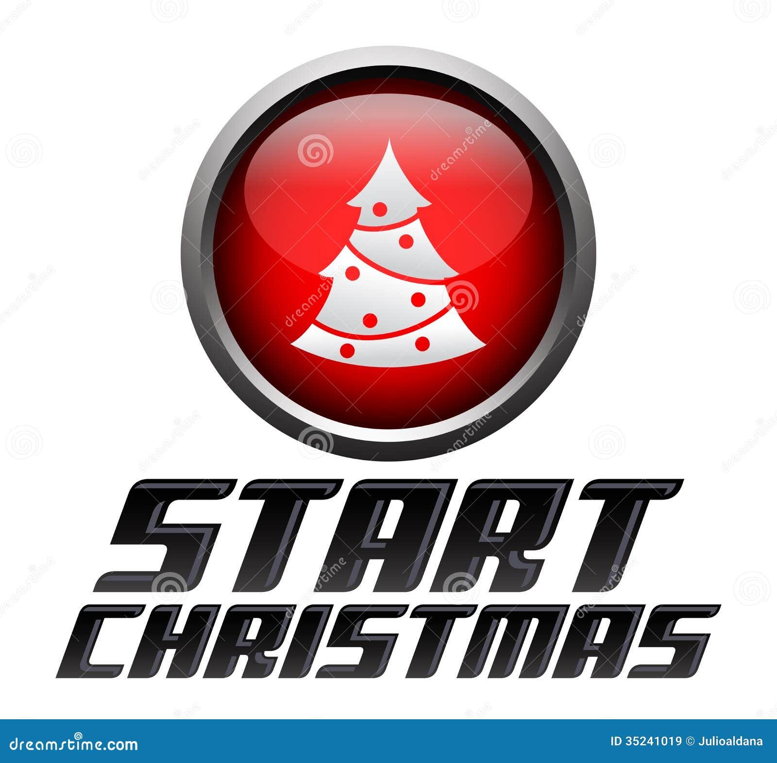 Start christmas - start button