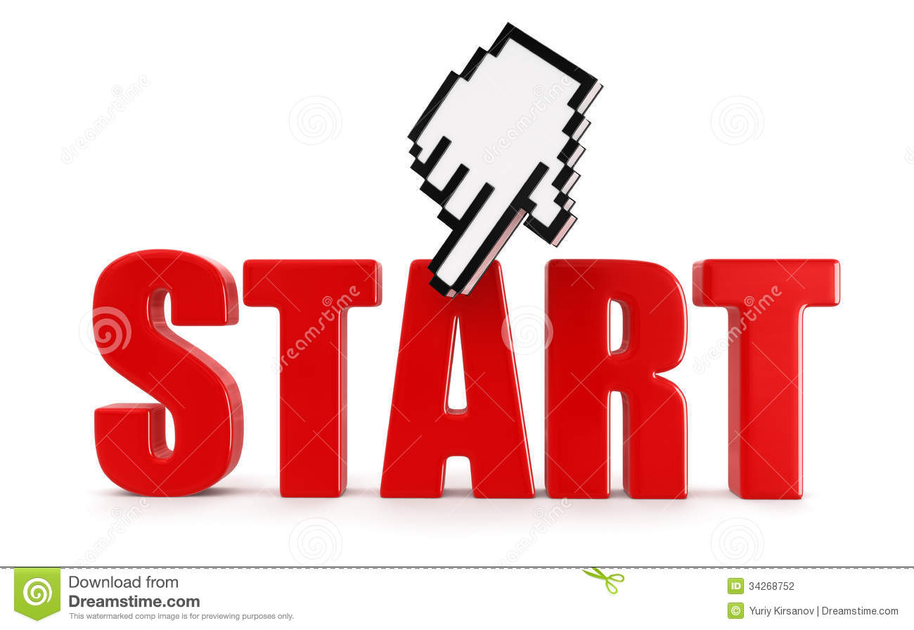 START and cursor (clipping path included)