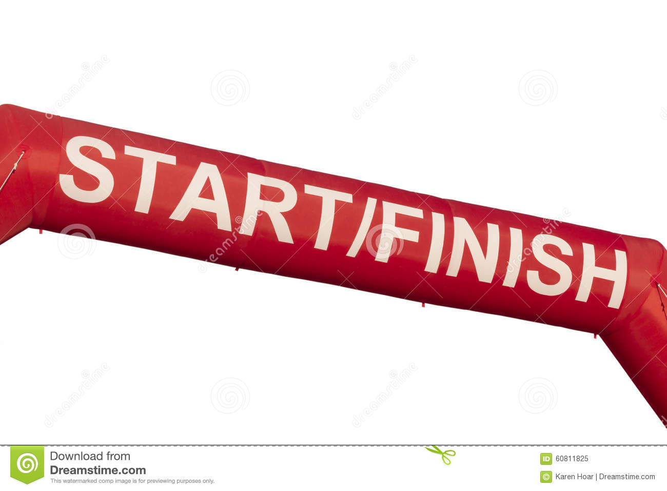 start finish line banner stock photo  image: 60811825