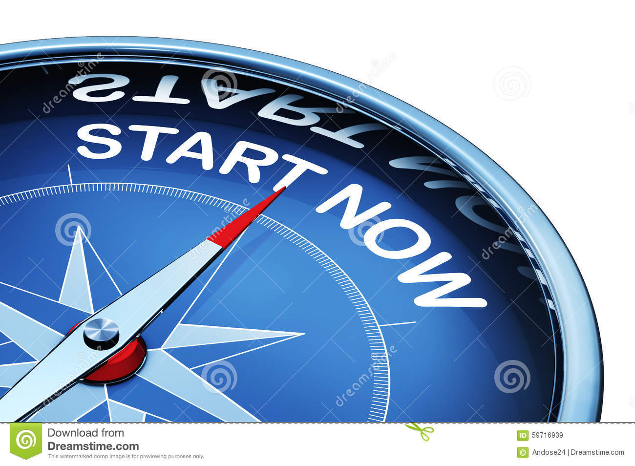 Start Now Stock Illustration - Image: 59716939
