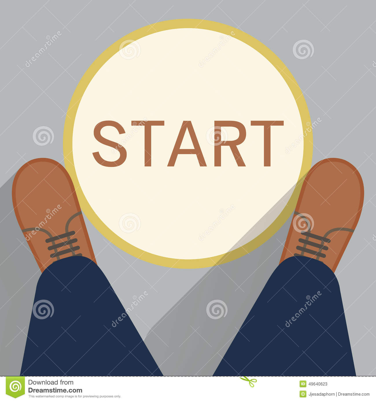 Dign Start Point Stock Photo Image 49640623