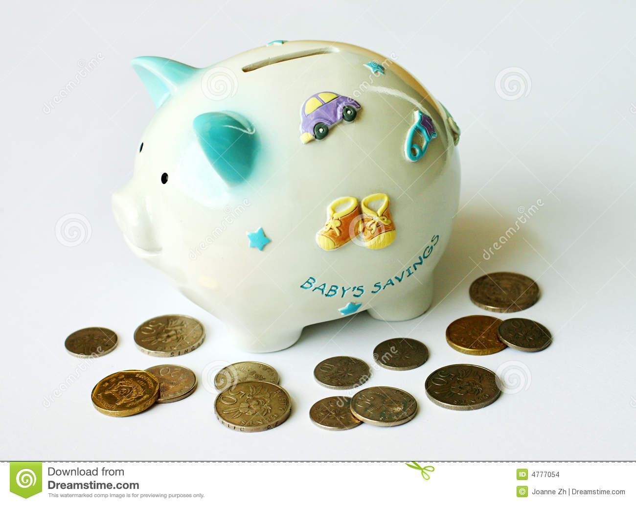 Download Start Saving Early! stock photo. Image of financing, coin - 4777054
