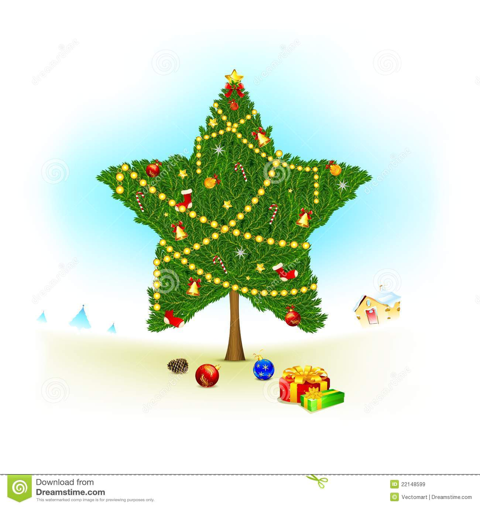 Start Shape Christmas Tree Royalty Free Stock Images
