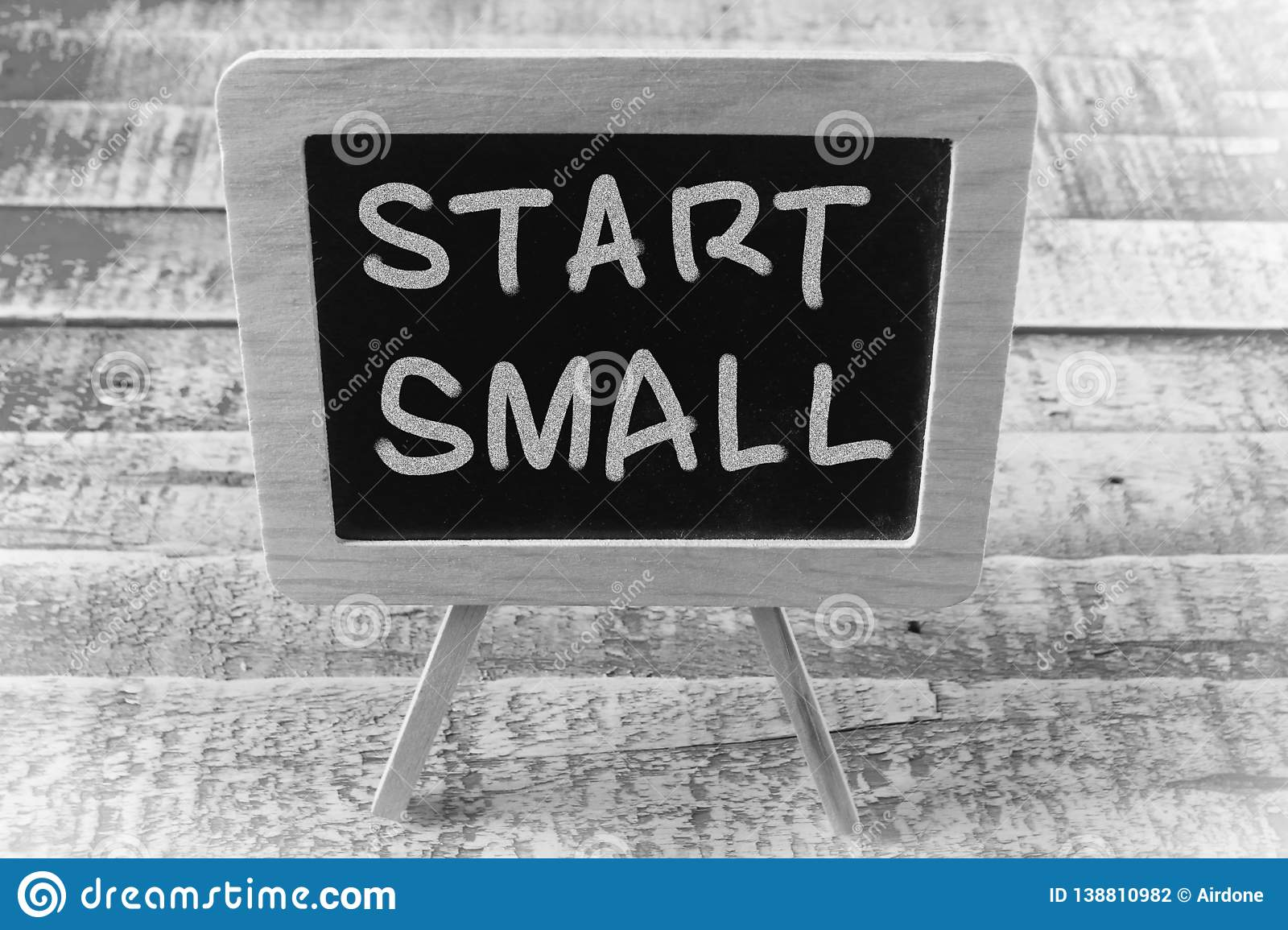 Start Small, Motivational Words Quotes Concept